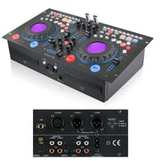 Technical Pro DMXP6 Rackmountable Double CD Mixer With USB and BPM, Black