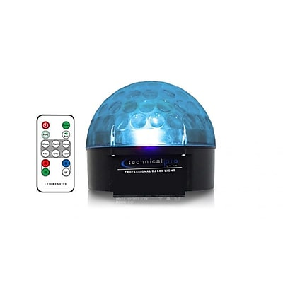 Technical Pro LG66R LED Light Globe With Remote, Black