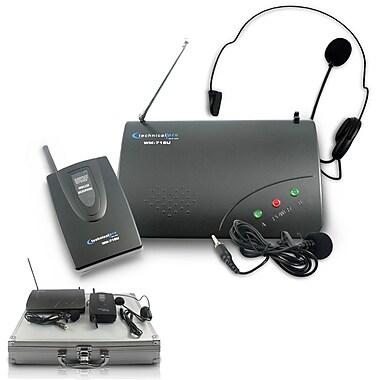 Technical Pro wm715u Single UHF Handheld Wireless Microphone System, Black