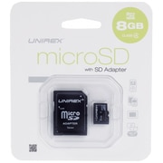 Unirex® 8GB MicroSD High Capacity Class 4 Memory Card With SD Adapter (93589439M)