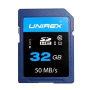 Unirex® 32GB SD High Capacity Class 10 UHS-1 Memory Card