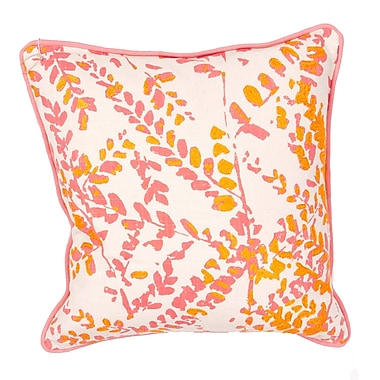 Jaipur LSC15 En Casa By Luli Sanchez Pillows Cotton, Natural & Peach