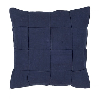 Jaipur TAB01 Tabby Pillow Cotton, Polyester & Viscose, Navy
