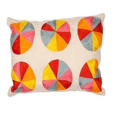 Jaipur LSC05 En Casa By Luli Sanchez Pillows Cotton, Natural & Yellow