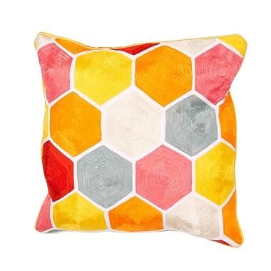 Jaipur LSC09 Handmade Pillow Cotton, Orange