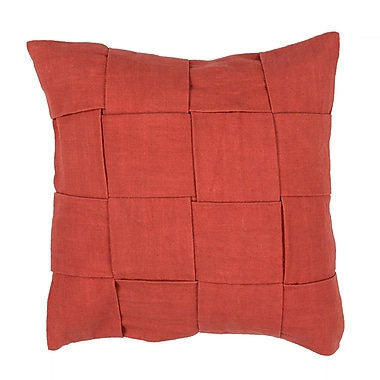 Jaipur TAB02 Tabby Pillow Cotton, Rust