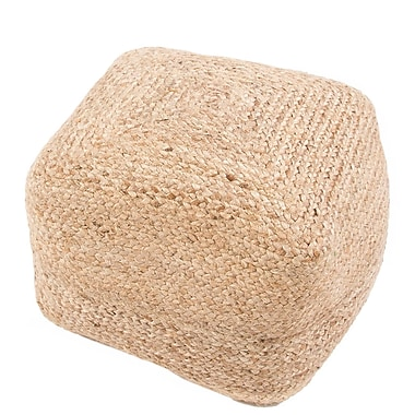 Jaipur SAA02 Sangam Jute with Thermocoal Bean Filling, Beige