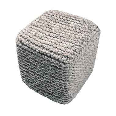 Jaipur SCP04 Scandanavian Pouf Wool with Polystyrene & Foam Filling