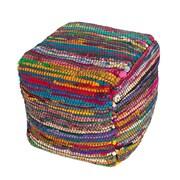 Jaipur BLP01 Bali Pouf Sari Silk with Styrofoam Ball Filling,