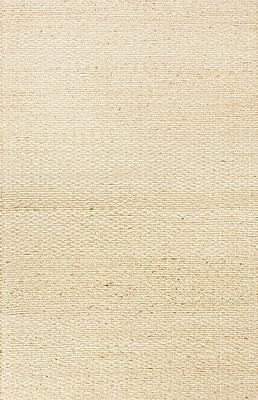 Jaipur Andes Beige Solid Area Rug Jute & Cotton, 5' x 8'