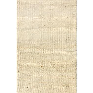 Jaipur Andes Beige Solid Area Rug Jute & Cotton, 8' x 10'