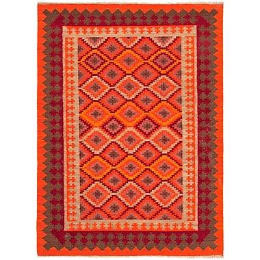 Jaipur Flat-Weave Tribal Pattern Area Rug Wool, 5' x 8'
