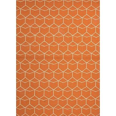 Jaipur Area Rug Polypropylene, 5' x 7.6' Red Orange