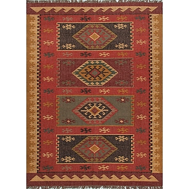 Jaipur Bedouin Red Tribal Area Rug Jute, 5' x 8'