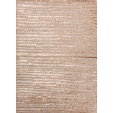 Jaipur Solid Pattern Area Rug Wool & Art Silk, 8' x 10', Alabaster