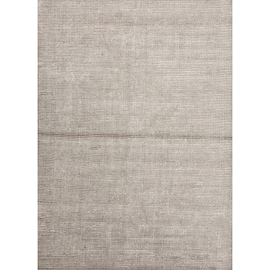 Jaipur Handloom Solid Pattern Area Rug Wool & Art Silk 2' x 3', Classic Gray