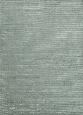 Jaipur Handloom Solid Pattern Area Rug Wool & Art Silk 3' x 2', Silver Sea Moss