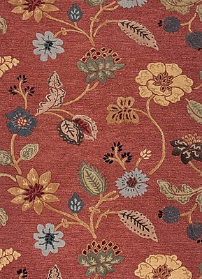 Jaipur Country & Floral Area Rug Wool & Art Silk, 3' x 2'
