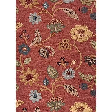 Jaipur Country & Floral Area Rug Wool & Art Silk, 3.6' x 5.6'