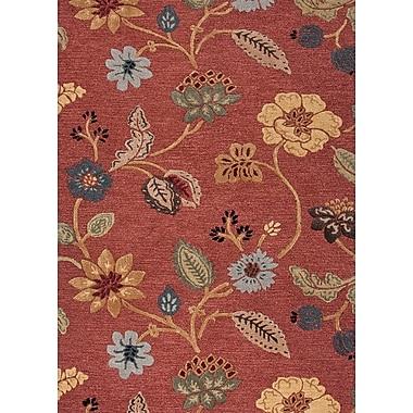 Jaipur Country & Floral Area Rug Wool & Art Silk, 5' x 8'