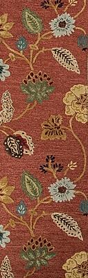 Jaipur Floral Area Rug Wool & art silk 2.5' x 8'