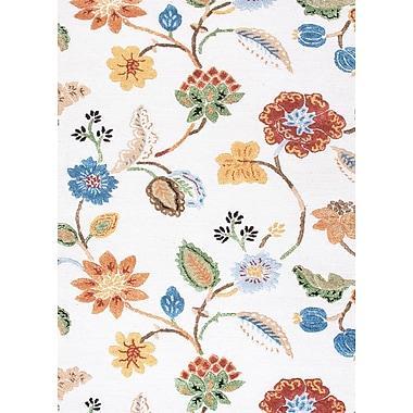 Jaipur Floral Area Rug Wool & Art Silk, 2' x 3'