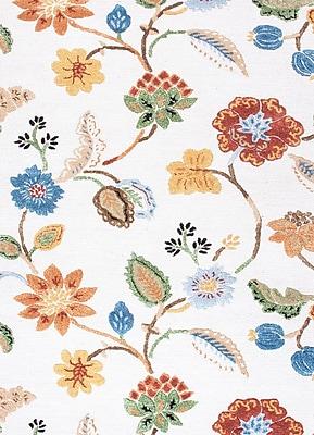 Jaipur Floral Area Rug Wool & Art Silk, 3.5' x 5.5'