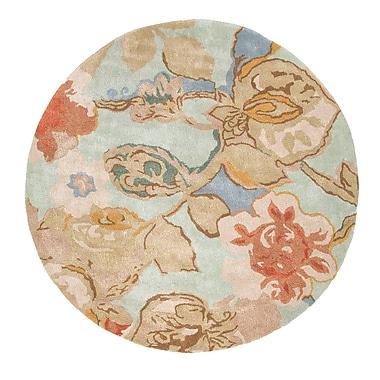 Jaipur Blue Aqua Foam Floral Area Rug Wool & art silk 8' x 8'