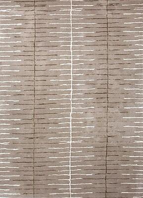 Jaipur Blue Ashwood Geometric Area Rug Wool & Art Silk, 5' x 8'