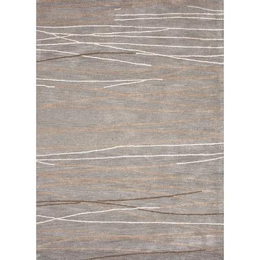 Jaipur Geometric Wool & Art Silk 5' x 8', Ice Blue
