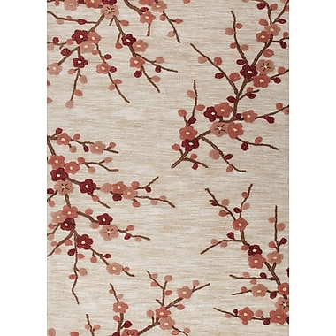 Jaipur Transitional Floral Polyester, 2' x 3' Colorado Clay