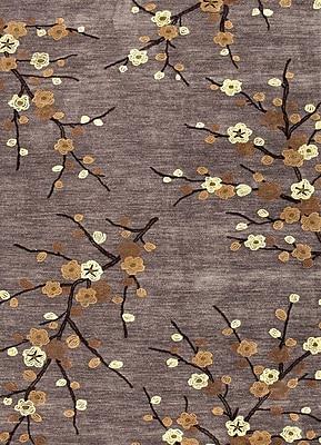 Jaipur Brio Floral Area Rug Polyester 3.6' x 5.6', Steel