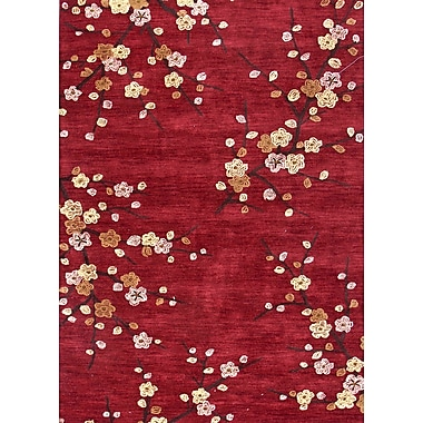 Jaipur Transitional Floral Polyester, 2' x 3' Red