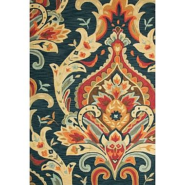 Jaipur Brocade Rectangle Rug Polyester, 2' x 3', Navy