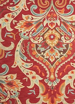 Jaipur Area Rug Polyester 7.5' x 5, Burgundy