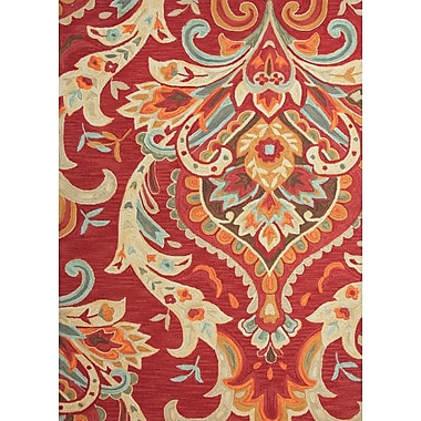 Jaipur Brocade Rectangle Rug Polyester, 2' x 3', Burgundy