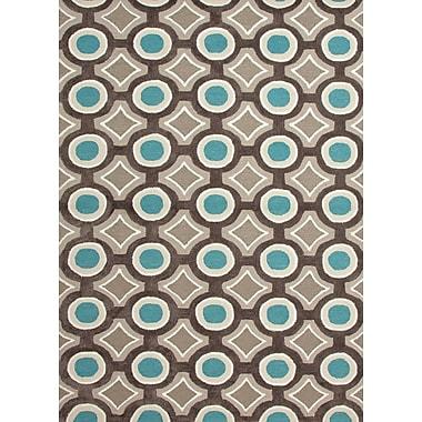 Jaipur Brio Area Rug Polyester 7.6' x 9.6', Deep Charcoal & Aegean Blue