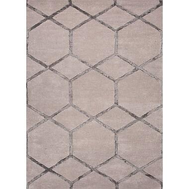 Jaipur Tufted Area Rug Wool & Art Silk, 5' x 8'