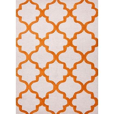 Jaipur Geometric Pattern Tufted Area Rug Wool, 5' x 8'