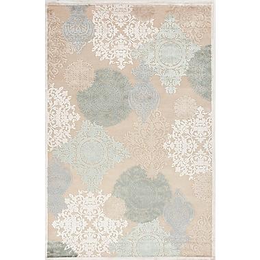 Jaipur Floral Pattern Area Rug Art Silk & Chenille, 7.6' x 9.6'
