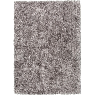 Jaipur Solid Shag Area Rug Polyester, 5'x7.6'