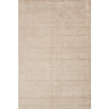Jaipur Konstrukt Kelle Rectangle Area Rug Wool & Art Silk 5' x 8', Beige