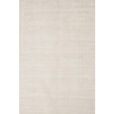 Jaipur Solid Pattern Area Rug Wool & Art Silk 5' x 8'