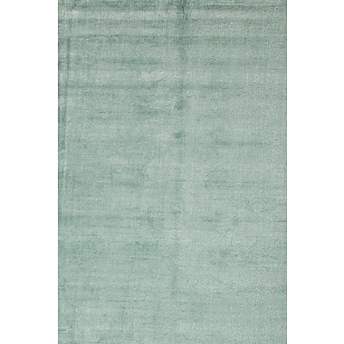 Jaipur Area Rug Wool & Art Silk, 5' x 8', Aruba Blue