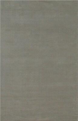 Jaipur Handloom Solid Pattern Wool & art silk 8' x 10', Ashwood