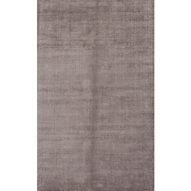 Jaipur Handloom Solid Pattern Wool & art silk 8' x 10', Charcoal Slate