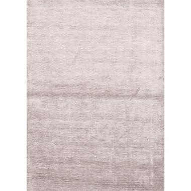 Jaipur Solid Pattern Bamboo Silk Area Rug Handspun Art Silk, 8' x 10'