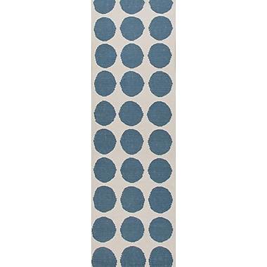 Jaipur Flat Weave Geometric Area Rug Wool, 2.6' x 8'