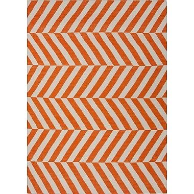 Jaipur Handmade Stripe Area Rug Wool, 5' x 8'