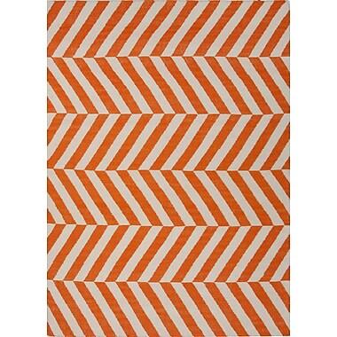 Jaipur Handmade Stripe Area Rug Wool, 8' x 10'